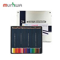 문화 수채색연필 24색 틴케이스