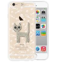 i-phone 6 Clear Silver cat (SWAROVSKI)