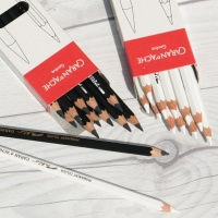 [CARAN DACHE] 까렌다쉬 전문가용 유성색연필 파블로 블랙/화이트 낱색 1다스(12자루)