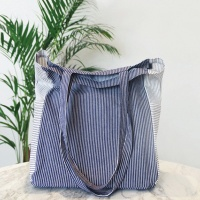 POCKET STRIPE C.BAG_ BLUE