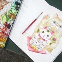 고양이삼촌 컬러링북 'My cat'