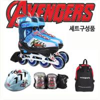 디즈니 인라인 풀세트 인라인+헬멧+보호대+가방