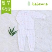 [베베원] 밤부팜 긴팔내의상하복 유아 아기 출산 백일 돌선물