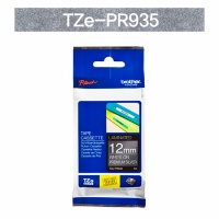 브라더정품 라벨테이프 TZe-PR935(12mm x 4M) (프리미엄실버바탕/하얀색글씨)
