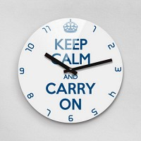 Reflex KEEP CALM AND CARRY ON 무소음벽시계(대) KYE280-WH