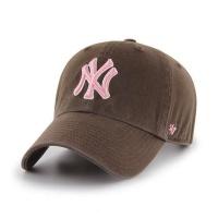 MLB모자 뉴욕 양키즈 브라운 핑크빅로고