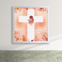 iw073-기도하는소녀액자벽시계_디자인액자시계