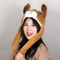 [갓샵 귀움직이는 강아지 곰돌이 모자] 핵인싸 아이돌 팬싸 햇
