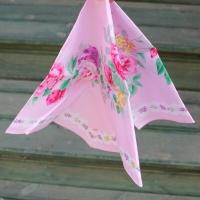 리얼 손수건 - 핑크