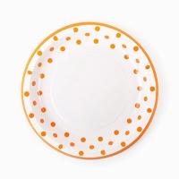 라인도트 파티접시 18cm - 오렌지(6입)