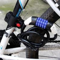 아웃도어 캠핑 거치대 자전거 자물쇠1개(색상랜덤)