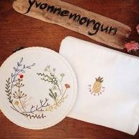 식물라인드로잉 자수액자&파우치 소품 DIY 키트