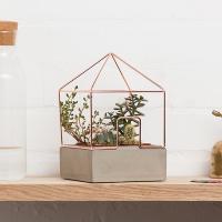 [썩유케이] 시멘트 철제 하우스 콘크리트 화분