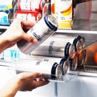 투명 냉장고 음료캔 수납 정리 용기 트레이 (대형)