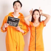 할로윈 커플의상세트-죄수복(오렌지)