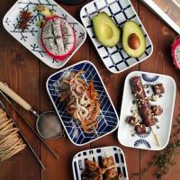 일본식기 에보트라 사각접시