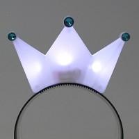 LED점등 왕관머리띠 (화이트)