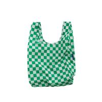 [바쿠백] 소형 베이비 장바구니 Green Checkerboard