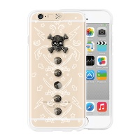 [SG DESIGN] iPhone6/6S SG Lighting Clear Hand-made Case - Clear white Skull(Wild)