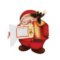 크리스마스카드/성탄절/트리/산타 내안에 편지(FS205-2)