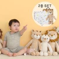 [CONY]아기황호애착인형+오가닉스카프(유아선물세트)
