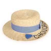 [디꾸보]줄무늬 띠 스트랩 레터링 바캉스 모자 AC356