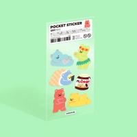 모트모트 포켓 스티커 - 곰돌이 (no.2)