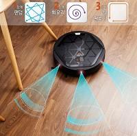 [로봇청소기]아이클레보 팝 YCR-M05-P/공간분석 확장주행,문턱모드, 고효율 기술,160분 사용,이중 회오리 집중청소,초극세사 물걸레,리모콘,유진로봇 정품,국내생산