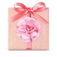 [인디고샵] 핑크 로즈 꽃송이 라벨 (10개)