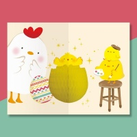 유리컴 카드 허니콤 축하 해피에그