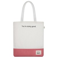 BASIC ECO BAG WHITE+PINK