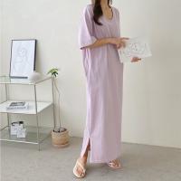 Soft U-Neck Long Dress