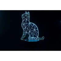 3D LED 무드등 고양이 (CBT940091)