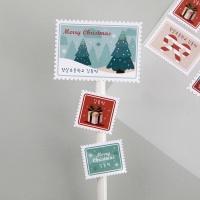 수제데코스티커크리스마스 우표