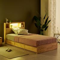 [노하우] 로뎅 LED 고무나무원목 B형 3서랍 침대 SS