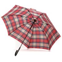 파라체이스 체크패턴 경량화 라운드 그립 장우산 1113
