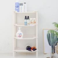 [4단 스마일 사각]예쁜 욕실수납/주방선반/수납/선반
