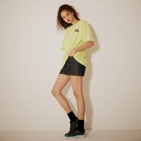 레트로 프린트 티셔츠(남여공용) 네온 옐로우
