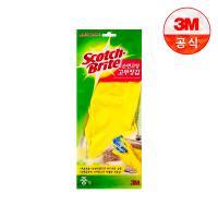 [3M]면코팅 노랑 긴 고무장갑