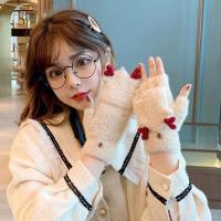 돌피아 사슴 벙어리 하트 털장갑