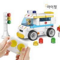 파이블럭 무선조종 5종변신 구급차 장난감 RC세트