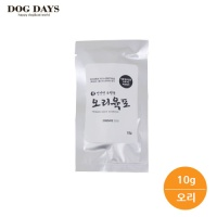 휴대용 강아지 유산균 수제 오리,치킨 육포 간식(10g)