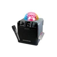 오디오박스 미러볼 마이크 블루투스 앰프 스피커 CARNIVAL330 (마이크제공 / 미러볼조명 / SD카드지원)