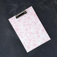 부리 벚꽃 A4 클립보드 / 집게형 무광코팅 보드