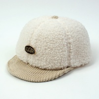 Fleece Ivory Bike Cap