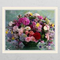 cl802-재물이담긴꽃바구니3_창문그림액자