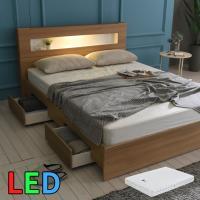 모델하우스 LED조명 서랍 침대 퀸(독립매트) KC147