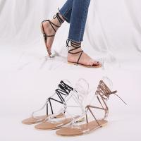[애슬릿]PVC 여성 매듭 스트랩 샌들 1cm