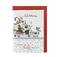 크리스마스카드/성탄절/트리/산타 달려라싼타 (FS156-5)