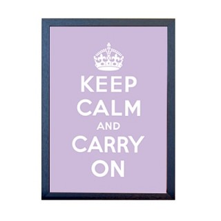 KEEP CALM 포스터 - 라이트퍼플
